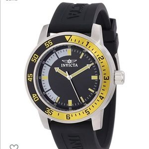 INVICTA Specialty Watch Black Yellow Mens